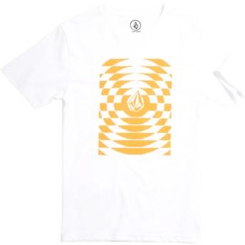 T-shirt à manche courte blanc pour enfant Check Wreck Division White Volcom