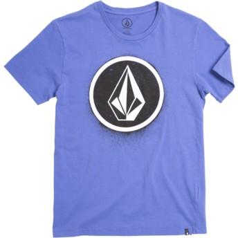 T-shirt à manche courte violet pour enfant Spray Stone Dark Purple Volcom