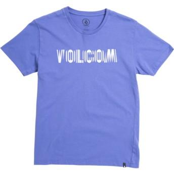 T-shirt à manche courte violet pour enfant Volcom Frequency Dark Purple Volcom