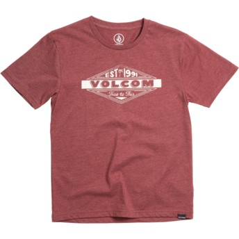 T-shirt à manche courte rouge pour enfant Volcom Run Crimson Volcom