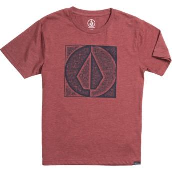T-shirt à manche courte rouge pour enfant Stamp Divide Crimson Volcom