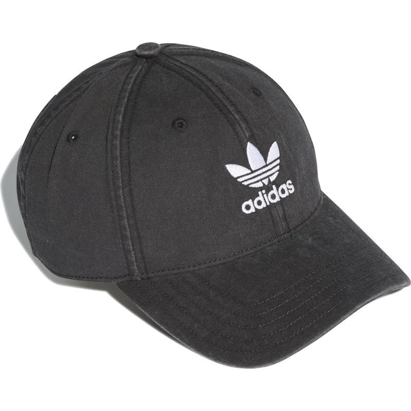 4daa7bda19 Casquette courbée noire ajustable Washed Adicolor Adidas: acheter en ...