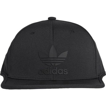 Casquette plate noire snapback 3 Stripes Adidas