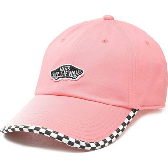 Casquette courbée rose ajustable Check It Vans