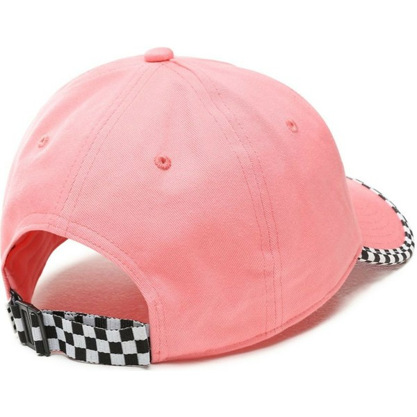 casquette-courbee-rose-ajustable-check-it-vans