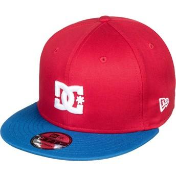 Casquette plate rouge snapback avec visière bleue Empire Fielder DC Shoes