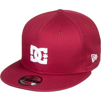 Casquette plate grenat snapback Empire Fielder DC Shoes