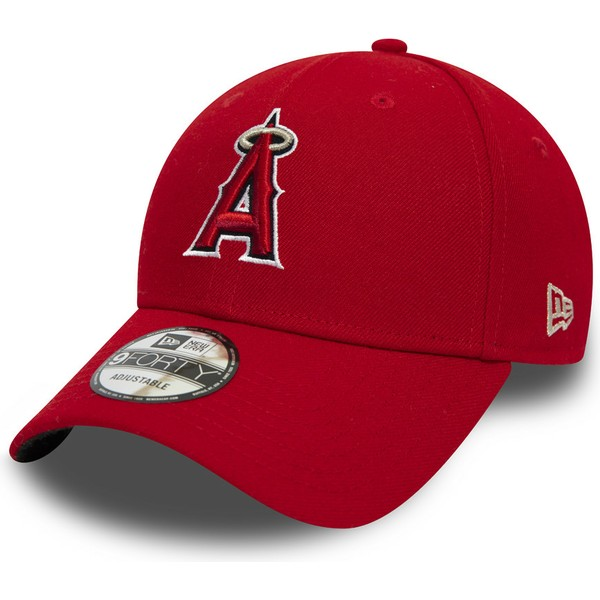 casquette-courbee-rouge-ajustable-9forty-the-league-anaheim-angels-mlb-new-era