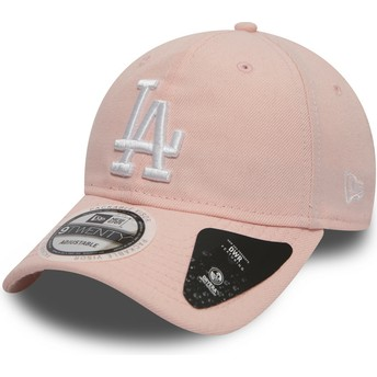 Casquette courbée rose ajustable 9TWENTY DryEra Packable Los Angeles Dodgers MLB New Era