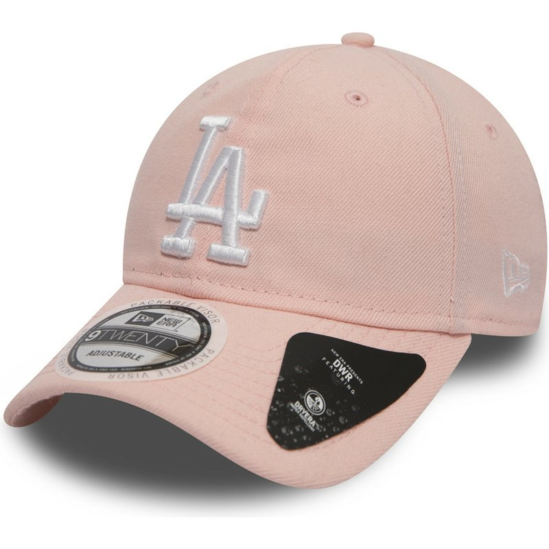 casquette-courbee-rose-ajustable-9twenty-dryera-packable-los-angeles-dodgers-mlb-new-era