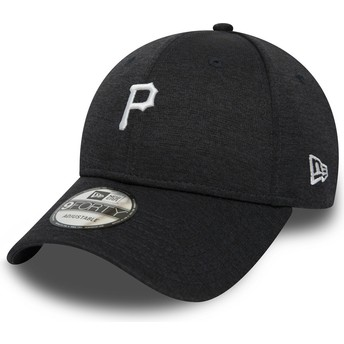 Casquette courbée noire ajustable 9FORTY Shadow Tech Pittsburgh Pirates MLB New Era