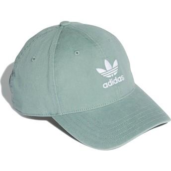 Casquette courbée verte ajustable Washed Adicolor Adidas
