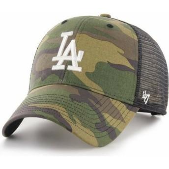 Casquette trucker camouflage avec logo blanc MVP Branson Los Angeles Dodgers MLB 47 Brand