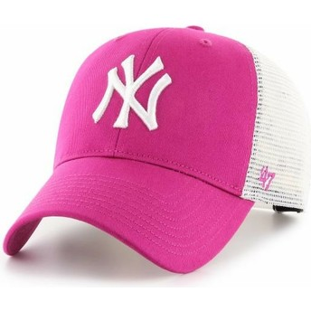 Casquette trucker rose foncé MVP Flagship New York Yankees MLB 47 Brand