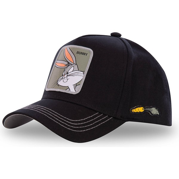 casquette-courbee-noire-snapback-bugs-bunny-bun3-looney-tunes-capslab
