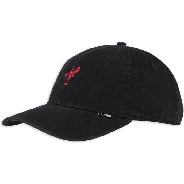 casquette-courbee-noire-et-rouge-ajustable-washed-girl-djinns