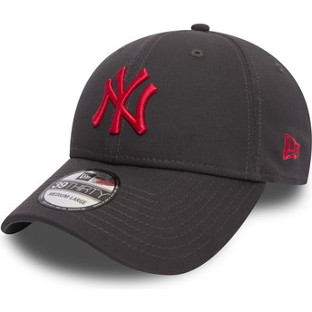 Casquette courbée pierre ajustée avec logo rouge 39THIRTY Essential League New York Yankees MLB New Era