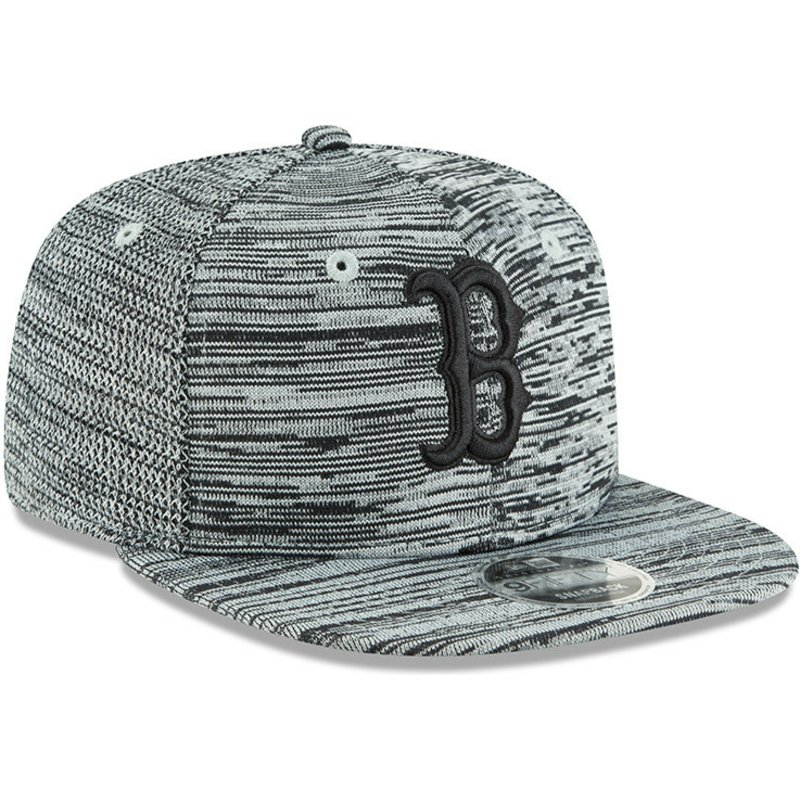 66cf4fc34d50 Casquette plate grise snapback avec logo noir 9FIFTY Engineered Fit ...