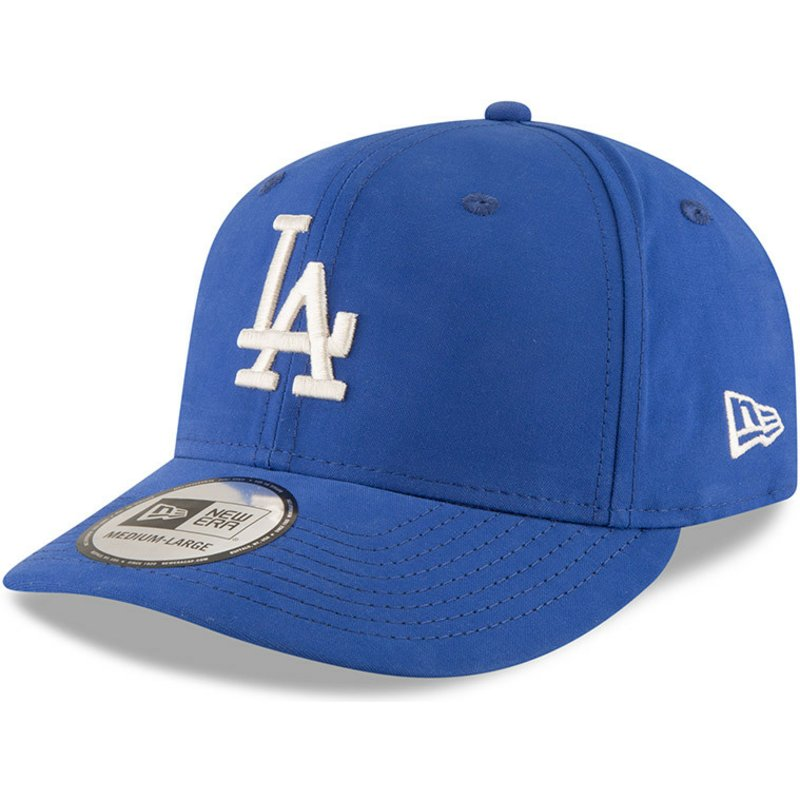 casquette-courbee-bleue-snapback-9fifty-nylon-pre-curved-fit-los-angeles-dodgers-mlb-new-era
