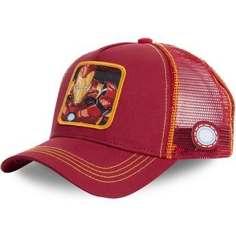 Casquette trucker rouge et jaune Iron Man IRO1 Marvel Comics Capslab