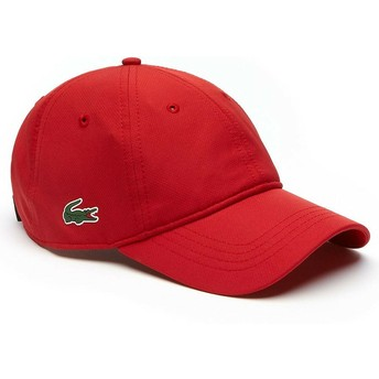 Casquette courbée rouge ajustable Basic Dry Fit Lacoste