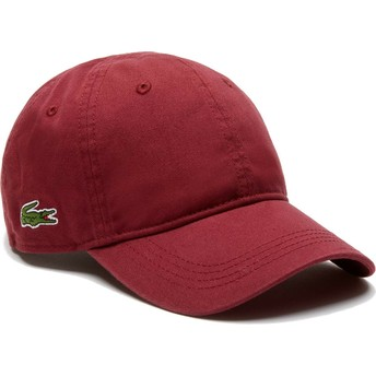 Casquette courbée grenat ajustable Basic Side Crocodile Lacoste