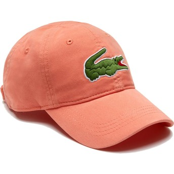 Casquette courbée orange claire ajustable Big Croc Gabardine Lacoste