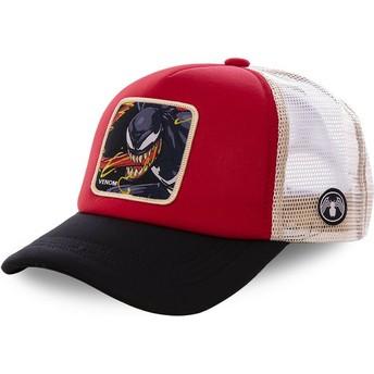 Casquette trucker rouge, blanche et noire Venom VEN4M Marvel Comics Capslab