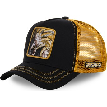 Casquette trucker noire et jaune Gotenks Super Saiyan 3 GOT2 Dragon Ball Capslab