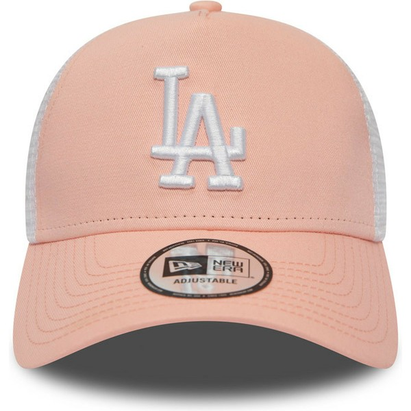 casquette-trucker-rose-league-essential-a-frame-los-angeles-dodgers-mlb-new-era