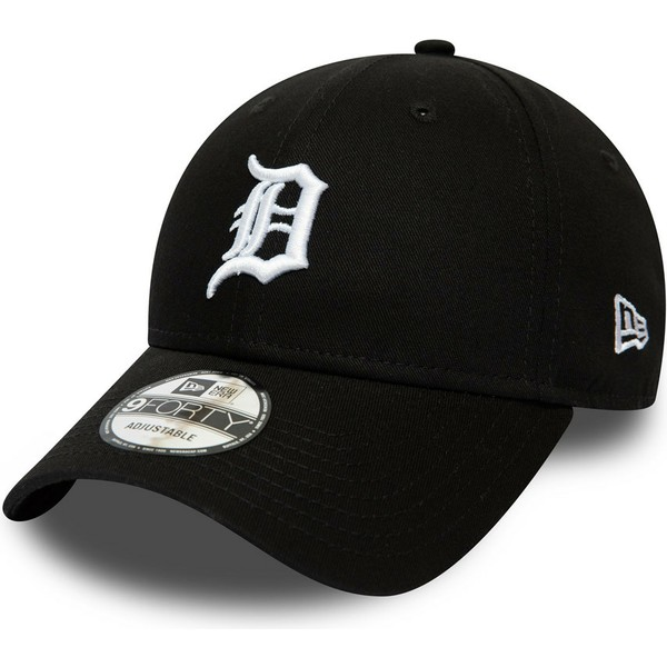 casquette-courbee-noire-ajustable-9forty-league-essential-detroit-tigers-mlb-new-era