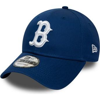 Casquette courbée bleue ajustable 9FORTY League Essential Boston Red Sox MLB New Era