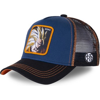 Casquette trucker bleue marine Son Goku Super Saiyan 3 SAN1 Dragon Ball Capslab