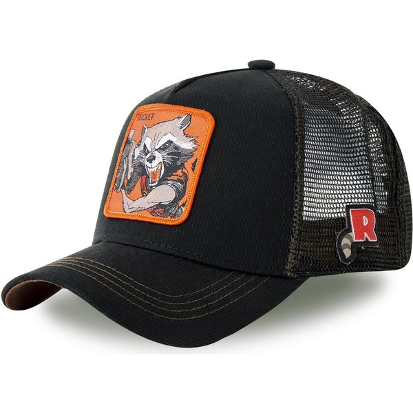 casquette-trucker-noire-rocket-raccoon-roc4-marvel-comics-capslab