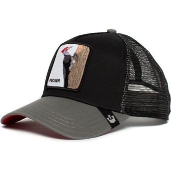 Casquette trucker noire pic Woody Wood Goorin Bros.