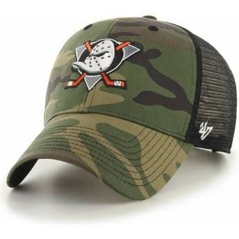 Casquette trucker camouflage MVP Branson Anaheim Ducks NHL 47 Brand