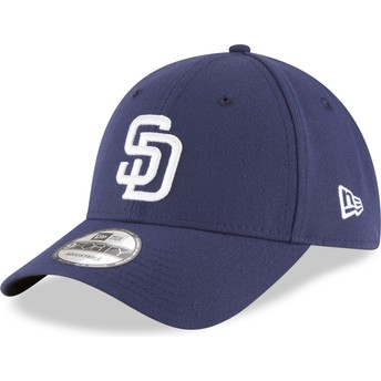 Casquette courbée bleue marine ajustable 9FORTY The League San Diego Padres MLB New Era