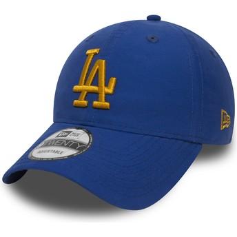 Casquette courbée bleue ajustable avec logo doré 9TWENTY Nylon Packable Los Angeles Dodgers MLB New Era