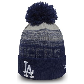 Bonnet bleu avec pompom Cuff Knit Sport Los Angeles Dodgers MLB New Era