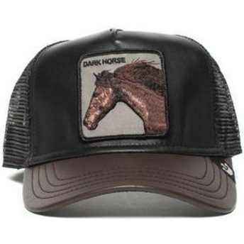 Casquette trucker noire et marron cheval Your Majesty Goorin Bros.