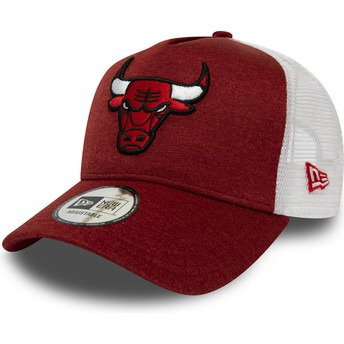 Casquette trucker rouge Shadow Tech A Frame Chicago Bulls NBA New Era