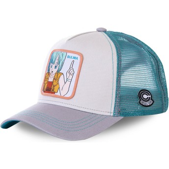 Casquette trucker blanche, bleue et grise Bulma BUL1 Dragon Ball Capslab