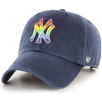 Casquette courbée bleue marine ajustable New York Yankees MLB Clean Up Pride 47 Brand