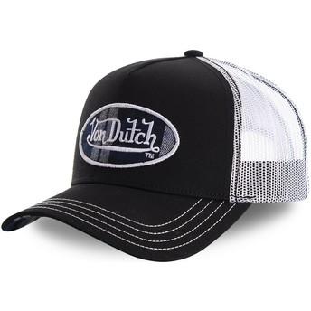 Casquette trucker noire et blanche CARD1 Von Dutch