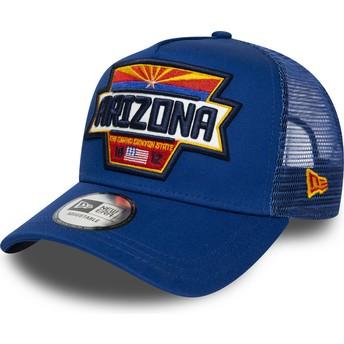 Casquette trucker bleue A Frame USA Patch Arizona New Era