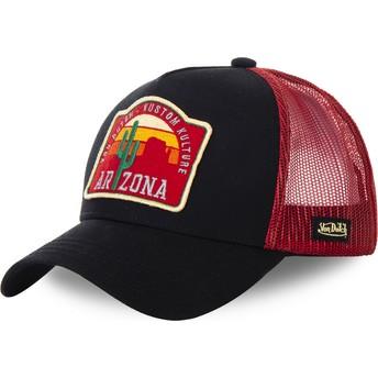 Casquette trucker noire et rouge Arizona AZ2 Von Dutch