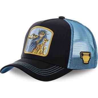 Casquette trucker noire et bleue Verseau AQU Saint Seiya: Les Chevaliers du Zodiaque Capslab