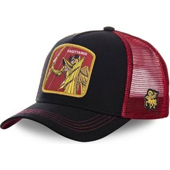 Casquette trucker noire et rouge Sagittaire SAG Saint Seiya: Les Chevaliers du Zodiaque Capslab