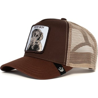 Casquette trucker marron chien Sweet Chocolate Goorin Bros.