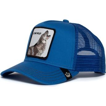 Casquette trucker bleue loup Strong Wolf Goorin Bros.